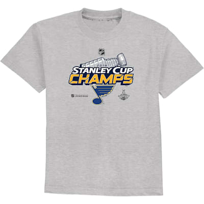 (Adidas St. Louis Blues 2019 Stanley Cup Champions Locker Room Tee - Youth)