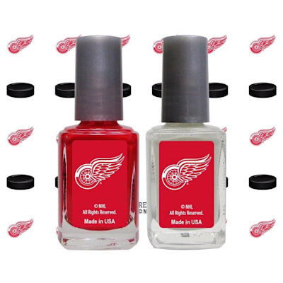 (NHL Nail Polish 2 Pack With Decals - Detroit Red Wings)