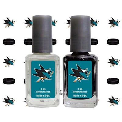 (NHL Nail Polish 2 Pack With Decals - San Jose Sharks)