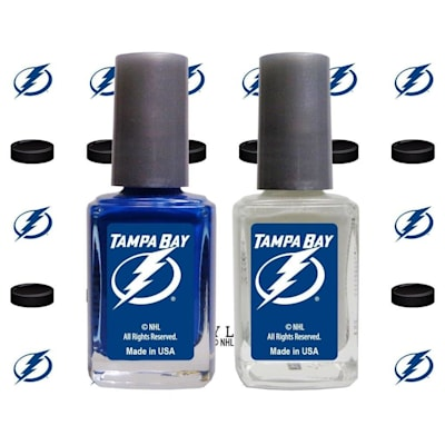 (NHL Nail Polish 2 Pack With Decals - Tampa Bay Lightning)