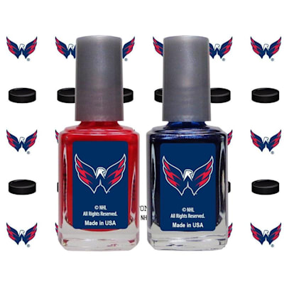 (NHL Nail Polish 2 Pack With Decals - Washington Capitals)