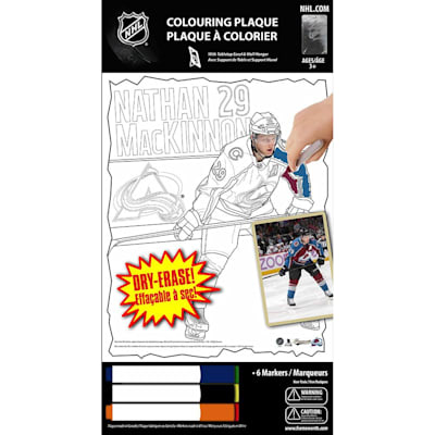(Frameworth Nathan Mackinnon NHL Coloring Plaque)