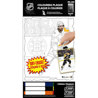 (Frameworth Patrice Bergeron NHL Coloring Plaque)