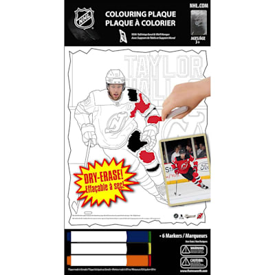 (Frameworth Taylor Hall  NHL Coloring Plaque)