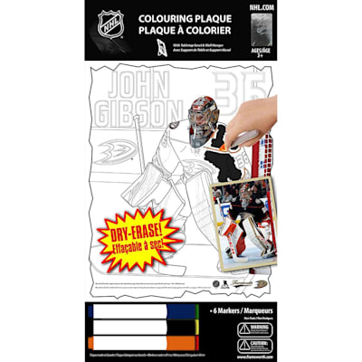 (John Gibson NHL Coloring Plaque)