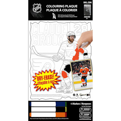 (Frameworth Claude Giroux NHL Coloring Plaque)