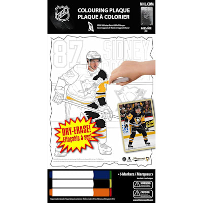 (Frameworth Sidney Crosby NHL Coloring Plaque)