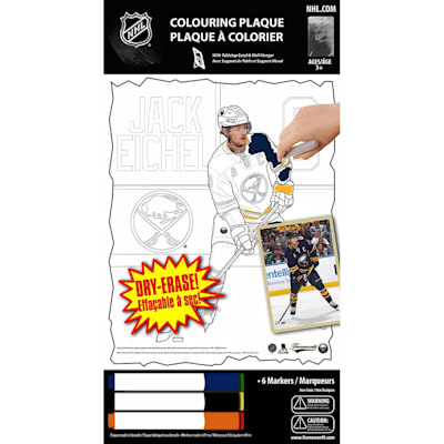 (Frameworth Jack Eichel NHL Coloring Plaque)
