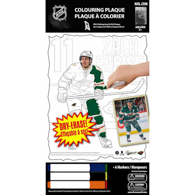 (Zach Parise NHL Coloring Plaque)