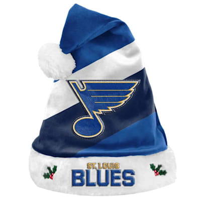 (St. Louis Blues Holiday Santa Hat)