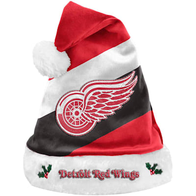 (Detroit Red Wings Holiday Santa Hat)