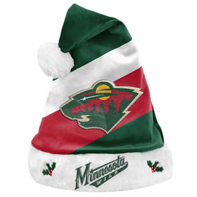 (Minnesota Wild Holiday Santa Hat)