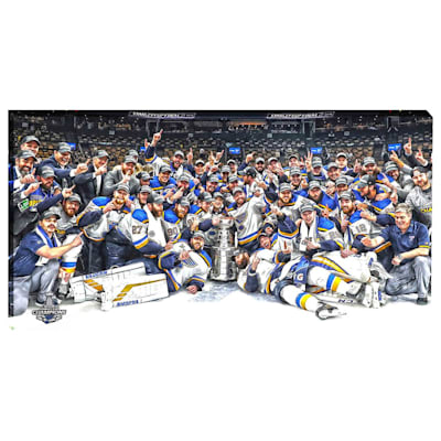 (St. Louis Blues Stanley Cup Celebration Canvas)