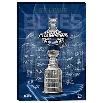 (St. Louis Blues Stanley Cup Signature Canvas)