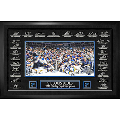 (St. Louis Blues Stanley Cup Framed Signatures Replica)