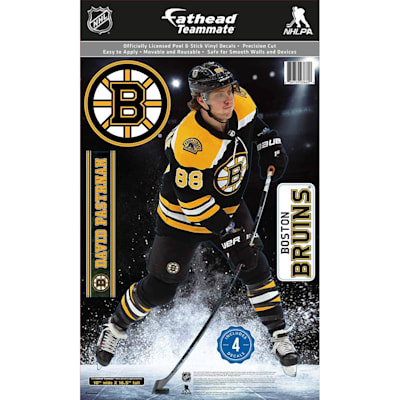 (Fathead NHL Teammate Boston Bruins David Pastrnak Wall Decal)