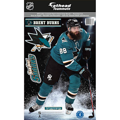 (Fathead NHL Teammate San Jose Sharks Brent Burns Wall Decal)