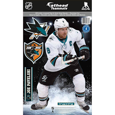 (Fathead NHL Teammate San Jose Sharks Joe Pavelski Wall Decal)