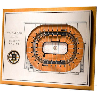 (YouTheFan Boston Bruins 5Layer Stadium 3D Wall Art)
