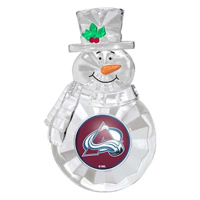 (Snowman Ornament Colorado Avalanche)