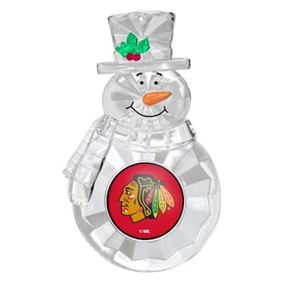 (Snowman Ornament Chicago Blackhawks)