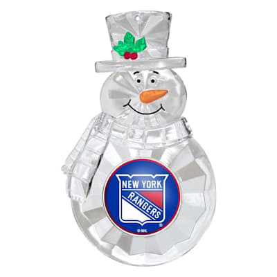 (Snowman Ornament New York Rangers)