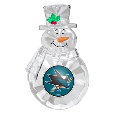 (Snowman Ornament San Jose Sharks)