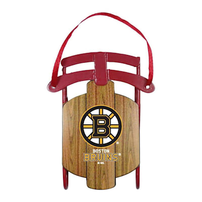 (Metal Sled Ornament Boston Bruins)