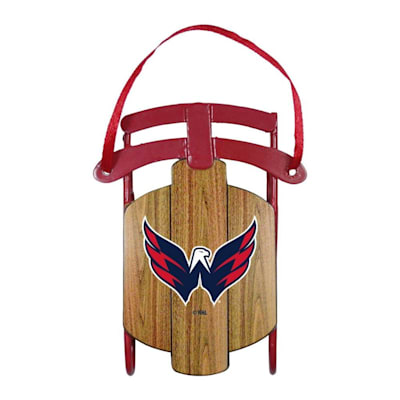 (Metal Sled Ornament Washington Capitals)
