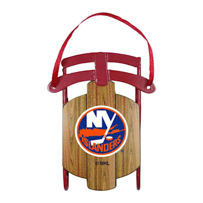 (Metal Sled Ornament New York Islanders)