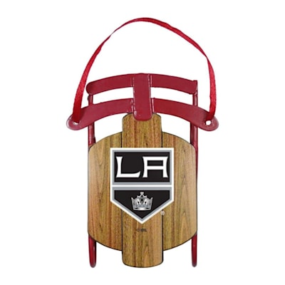 (Metal Sled Ornament LA KIngs)