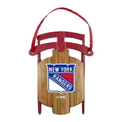 (Metal Sled Ornament New York Rangers)
