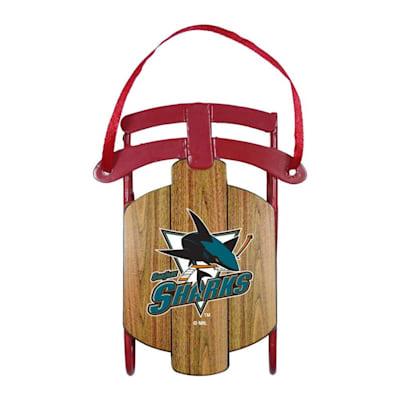 (Metal Sled Ornament San Jose Sharks)