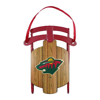 (Metal Sled Ornament Minnesota Wild)