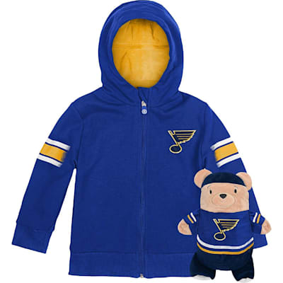 (Adidas St. Louis Blues Hoodie And Plush Animal - Infant)