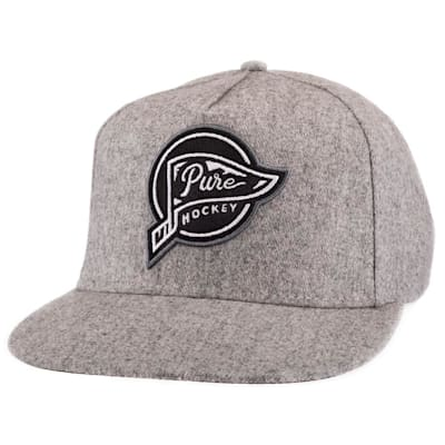 (Pure Hockey Banner Flat Brim Hat - Adult)