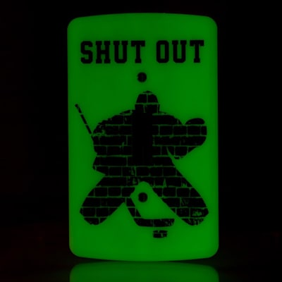 (Painted Pastimes Goalie Light Switch Cover - Glow in the Dark)