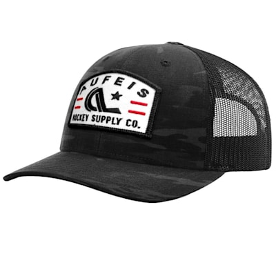 (Aufeis Goaler Dark Camo Meshback Hat - Adult)
