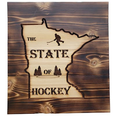 "(9.5"" x 10.5"" Minnesota State of Hockey Sign)"