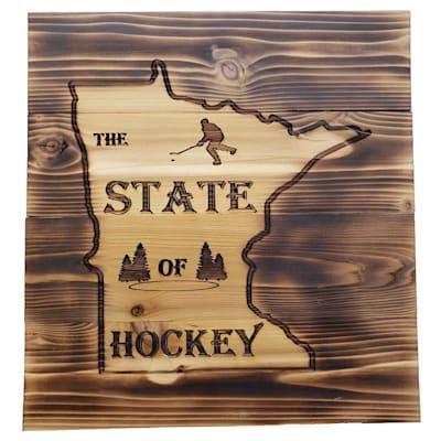 "(13"" x 14"" Minnesota State of Hockey Sign)"