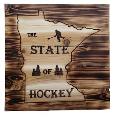 "(17"" x 17.5"" Minnesota State of Hockey Sign)"