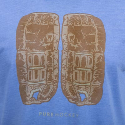 (Pure Hockey Retro Goalie Pad Tee - Adult)