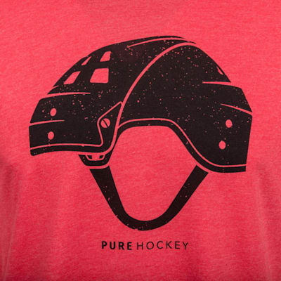 (Pure Hockey Retro Helmet Tee - Adult)