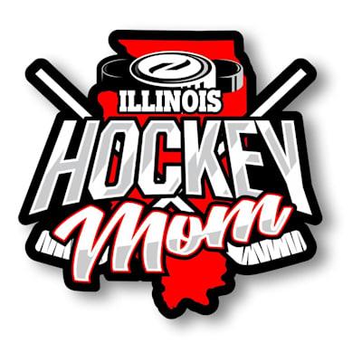 (Hockey Mom State Sticker)