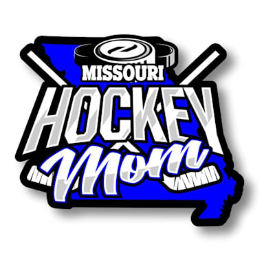 (Hockey Mom State Sticker)