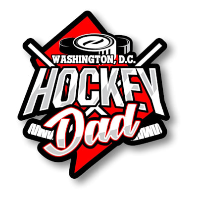 (Hockey Dad State Sticker)