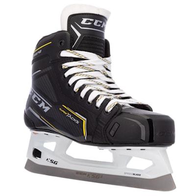 (CCM Super Tacks 9370 Ice Hockey Goalie Skates - Intermediate)