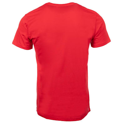(Adidas Hockey Short Sleeve Tee - Scarlet - Adult)