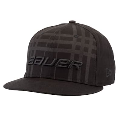 (Bauer New Era 9Fifty Plaid Adjustable Cap - Black - Youth)