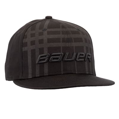 (Bauer New Era 9Fifty Plaid Adjustable Cap - Black - Adult)